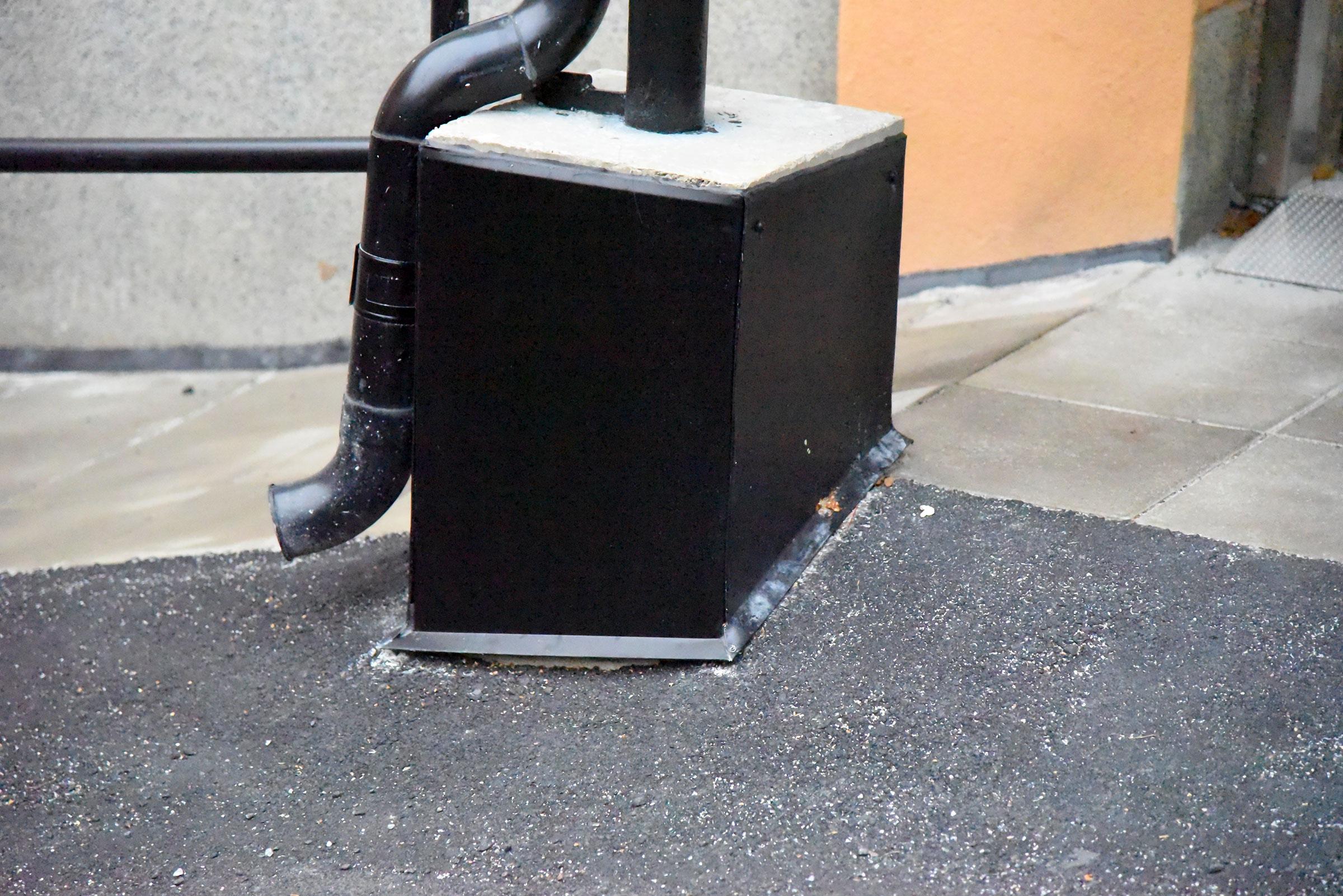 Ny fallbetong, nytt tätskikt och asfaltering